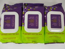 3 ANDALOU NATURALS / AGE DEFYING / FACIAL CLEANSING SWIPES /