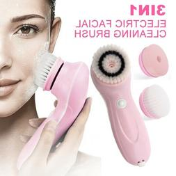 3IN1 Electric Rechargeable Facial Cleanser Brush Exfoliator