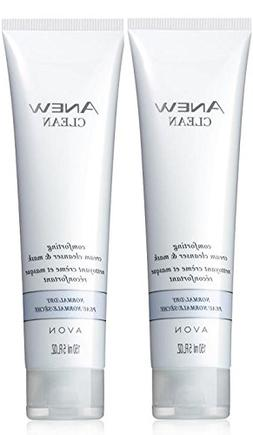 Avon Anew Clean Comforting Cream Cleanser Lot of 2