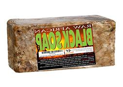 African Black Soap - 1 pound. Raw Organic Soap for Acne, Dry