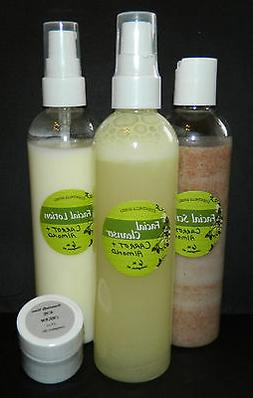 All Natural Facial Cleanser 6oz Vegan Friendly Dry skin Alco