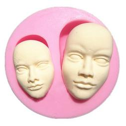 Bakeware & Accessories - Human Face Silicone Fondant Mold Ch