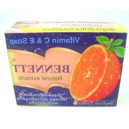 BENNETT NATURAL EXTRACTS VITAMIN C & E SOAP 130 GRAMS x 3 by