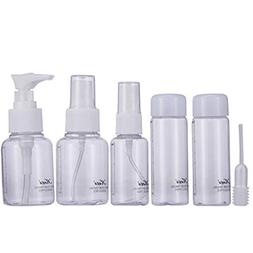 6Pcs Spray Bottle Set Portable Packaging Environmental Plane