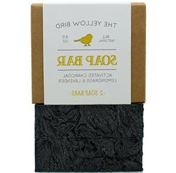 Charcoal Soap  Natural Body & Face Detox Cleansing Soap for