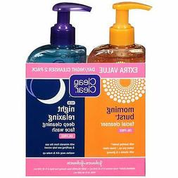 Clean & Clear 2-Pack Day and Night Face Cleanser Citrus