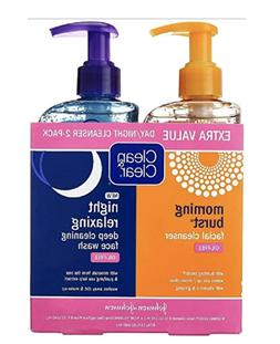 Clean & Clear 2-Pack Day And Night Face Cleanser Citrus Morn