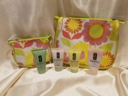 Clinique Cosmetic Bags w/ Foaming Cleanser Facial Soap & Lot