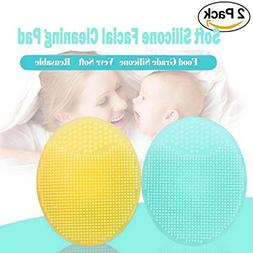 Silicone Face Scrubbers Exfoliator Brush-Facial Cleansing Br
