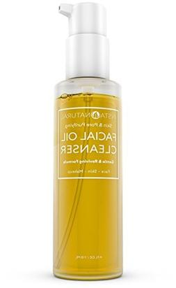 InstaNatural Facial Oil Cleanser - Best Deep Pore Cleansing
