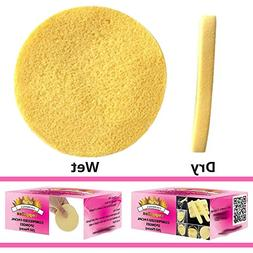Gold Cosmetics & Supplies  Facial Sponge Cosmetics Round, Ye