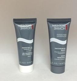 homme face gel cleanser and facial exfoliator