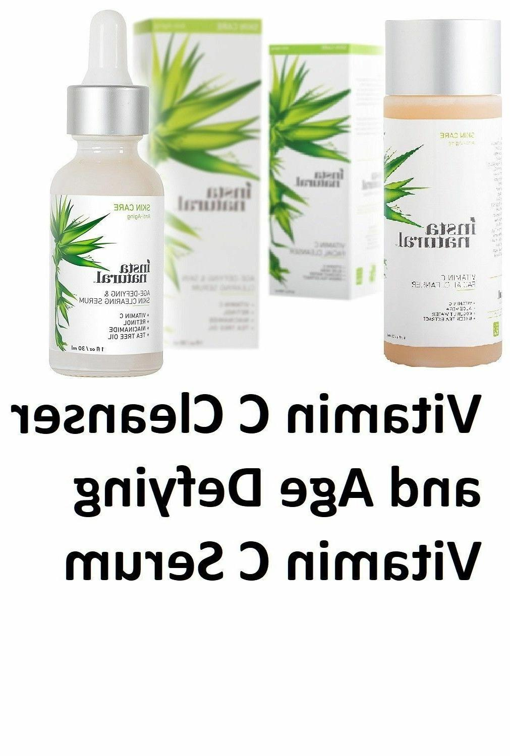 2 pack combo vitamin c facial cleanser