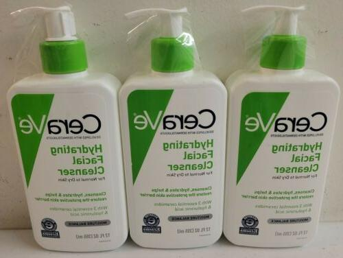 3 pack of hydrating facial cleanser