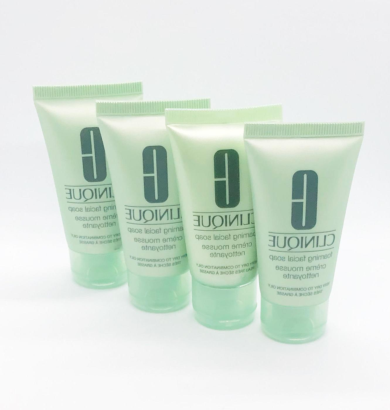 4 x foaming facial soap cleanser very