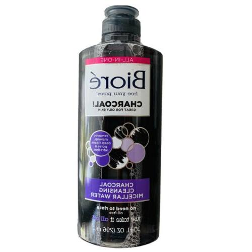 Biore Charcoal Cleanser Micellar Water 10 Ounce