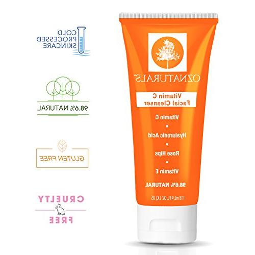 OZNaturals Cleanser - Effective Aging Face Wash Natural Skin Care Clean Healthy, Radiant 98% Natural, 4 oz. tube