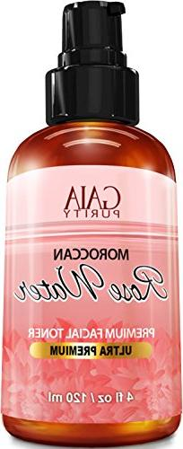 PURE Rose Water, Large 4oz  Made from Petals: 100% All Natur