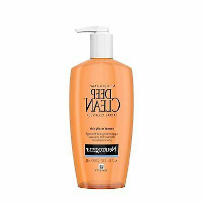 Neutrogena Deep Clean Facial Cleanser, Normal to Oily Skin,