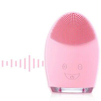 Facial Silicone Electric Cleansing Brush Skin Care