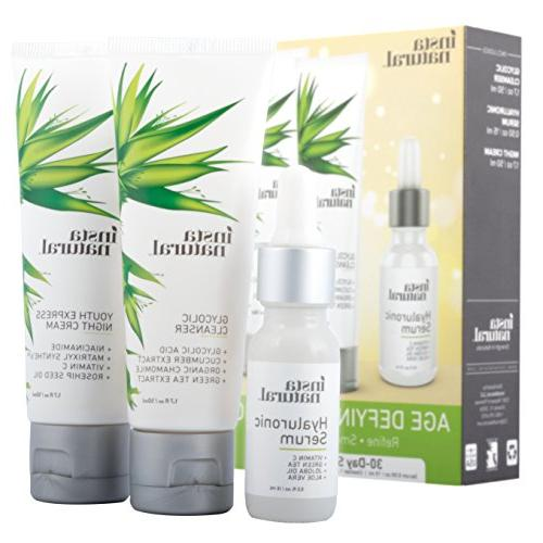 instanatural age defying skin trio bundle glycolic cleanser