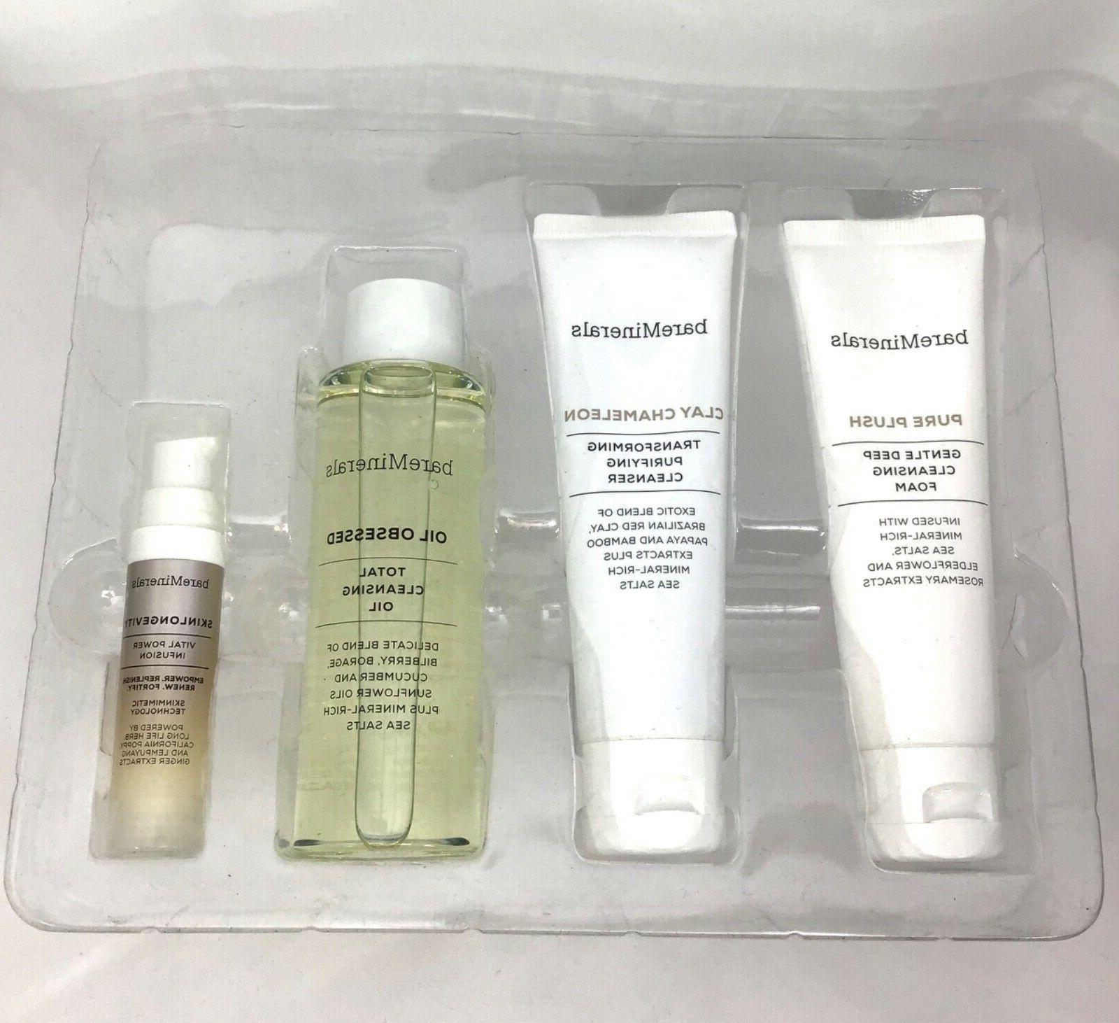 skinsorials trio of purifying facial cleansers set