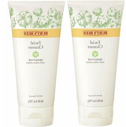 Lots Of  Burt's Bees Facial Cleanser, Sensitive with Cotton