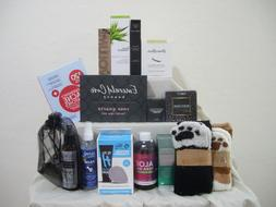 MIXED LOT HEALTH & BEAUTY ITEMS. CANDLE, CLEANSER, ALOE VERA