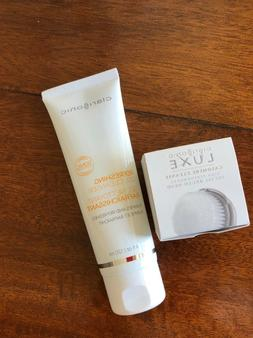 New Clarisonic Luxe Cashmere Cleanse Facial Brush Head &Gel