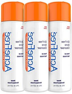 AcneFree Oil-Free Acne Cleanser Three Pack, Benzoyl Peroxide