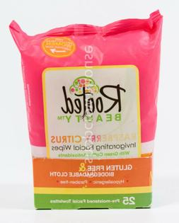 Rooted Beauty RASPBERRY CITRUS Invigorating Facial Wipes = 2