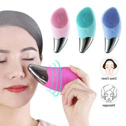 Silicone Facial Cleansing Brush Electric Wash Face Massager